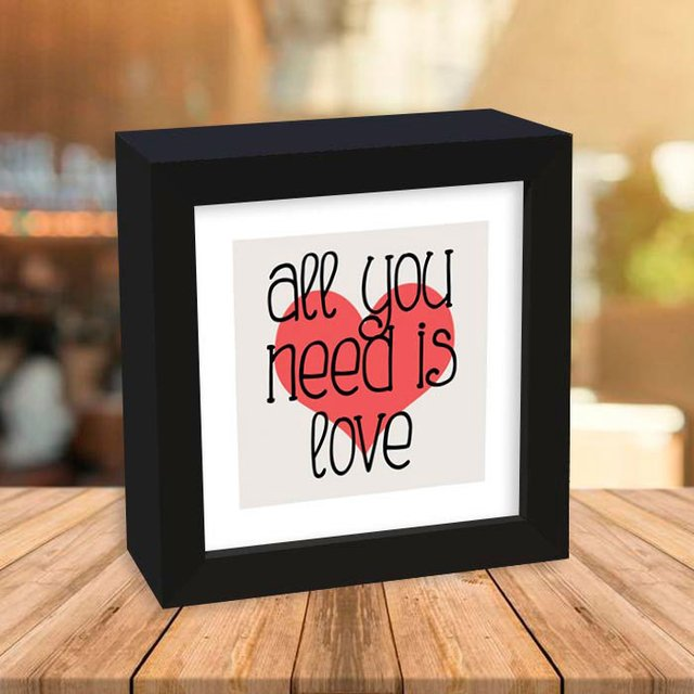 Quadro Box All you need is love