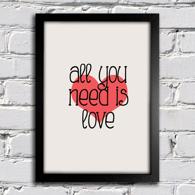 Poster Beatles All You Need Is Love na internet