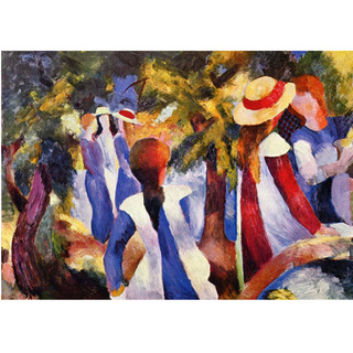 August Macke - Girl in the Greenery na internet