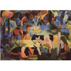 August Macke - Landscape With Cows and Camels na internet