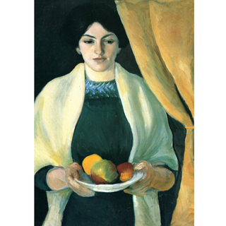 August Macke - Portrait With Apples - Portrait of the Artist's Wife na internet