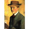 August Macke - Self Portrait With Hat na internet