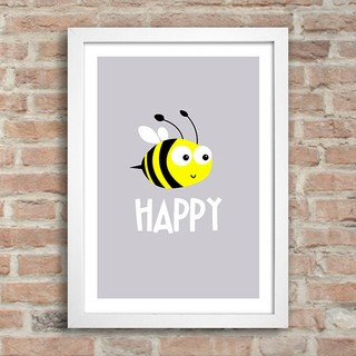Poster Bee Happy na internet