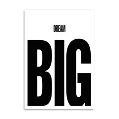 Poster Dream Big - loja online