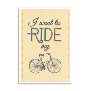 Poster I Want To Ride My Bike - Encadreé Posters
