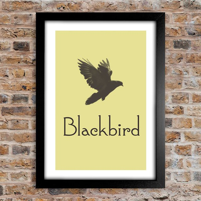 Poster Beatles BlackBird