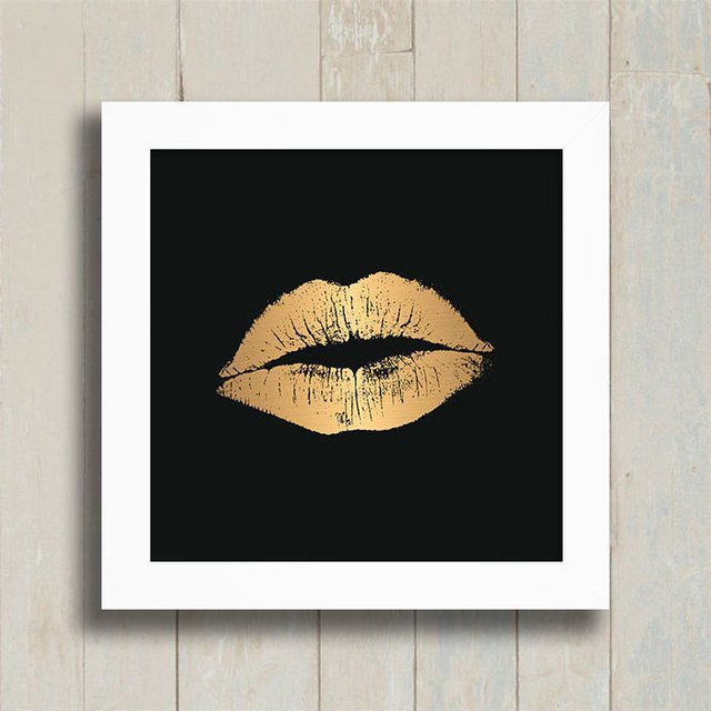 Quadro Golden Kiss