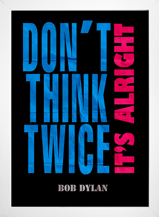 Poster Bob Dylan - Don't Think Twice It's Alright - loja online