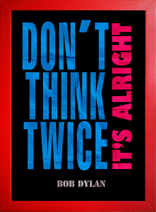 Poster Bob Dylan - Don't Think Twice It's Alright - comprar online