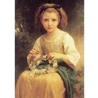 Bouguereau - Child Braiding a Crown