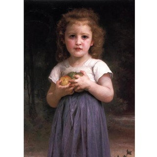 Bouguereau - Little Girl Holding Apples in her Hands