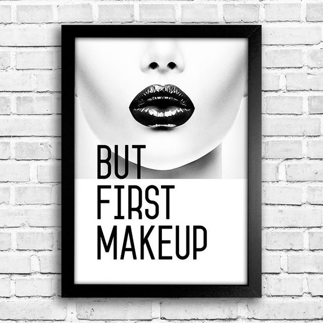 Poster But First Makeup - comprar online