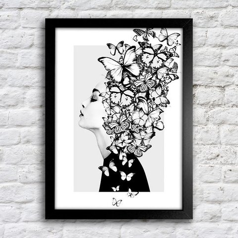 Poster Butterflies Girl