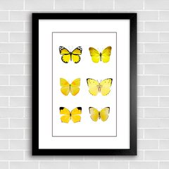 Poster Butterflies Yellow