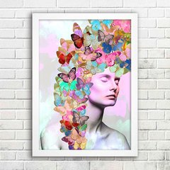 Poster Butterfly Girl Color - comprar online