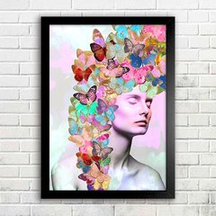 Poster Butterfly Girl Color