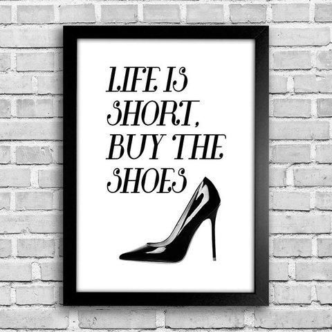 Poster Buy the shoes