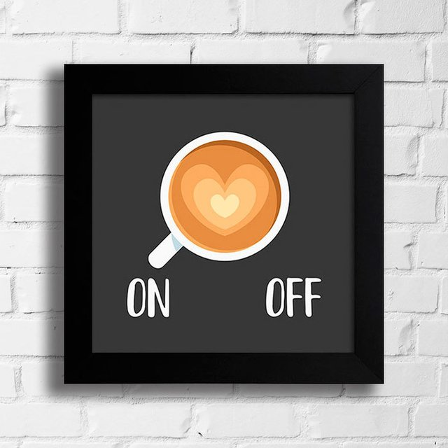 Quadro Café On Off na internet