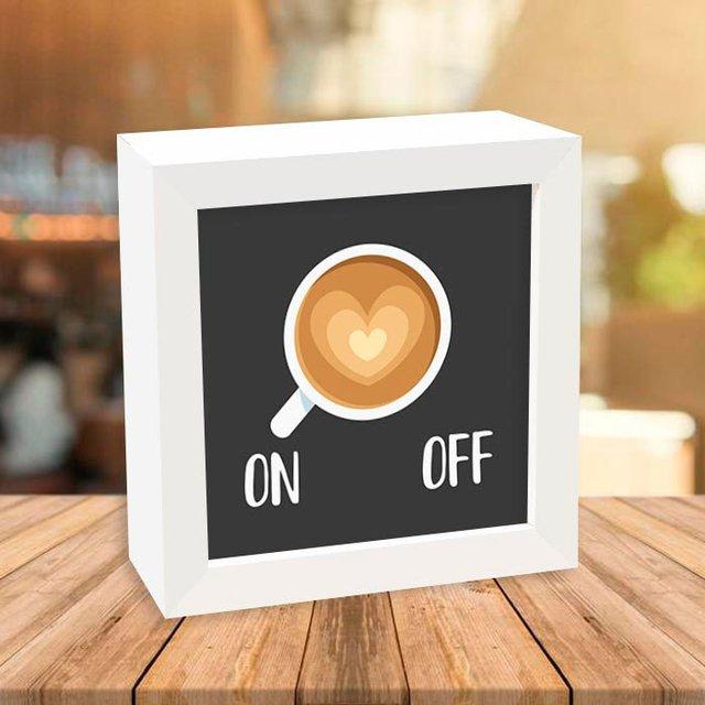 Quadro Box Café On Off - comprar online