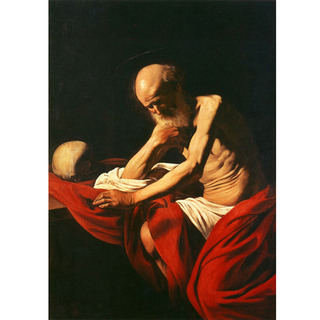 Caravaggio - Saint Jerome in Meditation