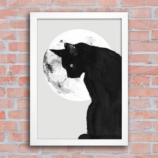 Poster Cat Moon na internet