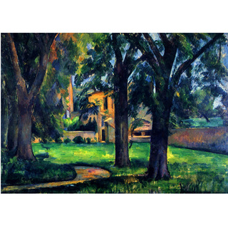 Cezanne - Chestnut Tree and Farm na internet