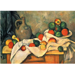 Cezanne - Still Life Drapery Pitcher and Fruit Bowl na internet