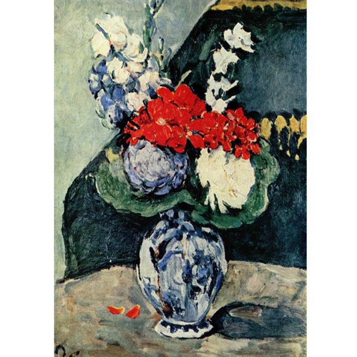 cezanne stilleben delfter vase mit blumen. Black Bedroom Furniture Sets. Home Design Ideas