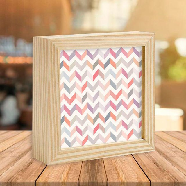 Quadro Box Chevron Color