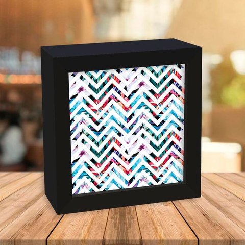 Quadro Box Chevron Tropical