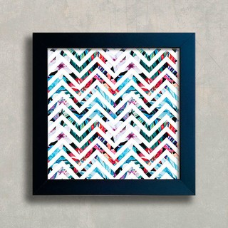 Quadro Chevron Flower na internet