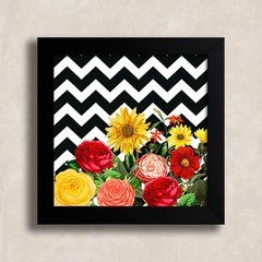 Quadro Chevron Vintage Flowers na internet