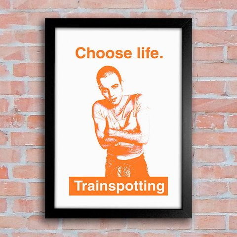 Poster Choose Life - Trainspotting - comprar online