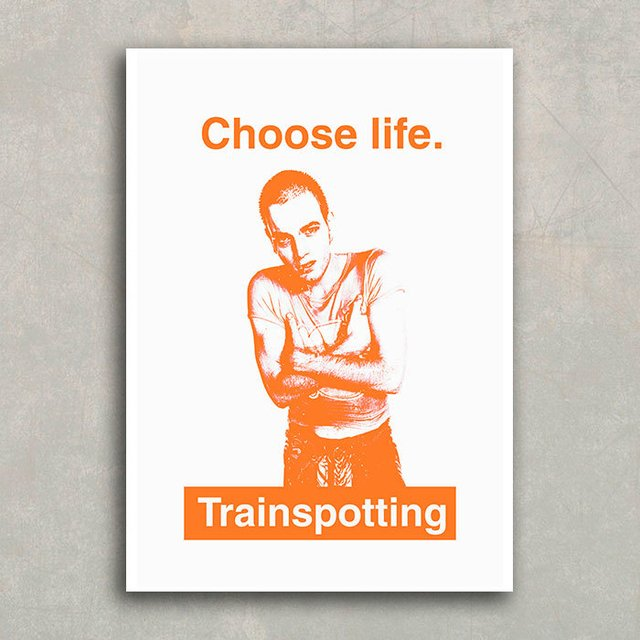 Poster Choose Life - Trainspotting