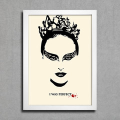 Poster Black Swan - I Was Perfect na internet