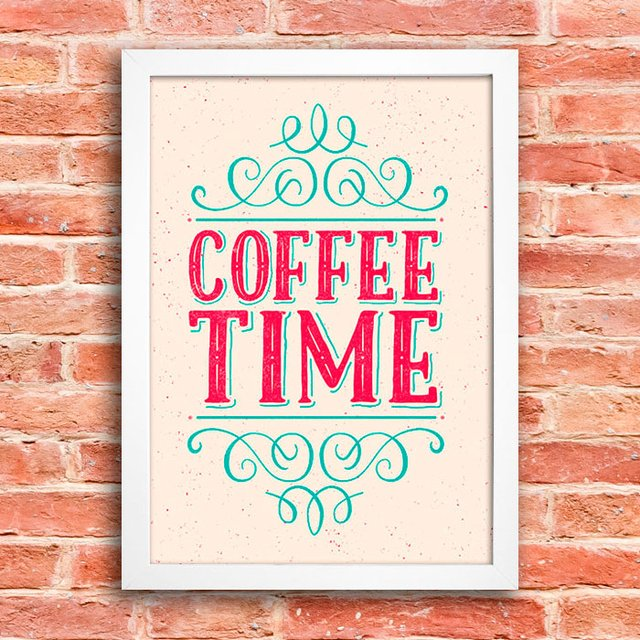 Poster Coffee Time - Hora do Café - comprar online
