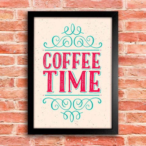 Poster Coffee Time - Hora do Café