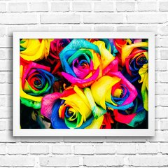 Poster Colorful Roses - Encadreé Posters