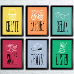 Kit Create Explore Smile Travel Relax Listen na internet