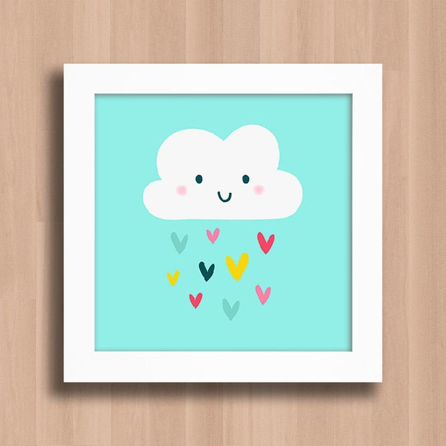 Quadro Cute Cloud na internet
