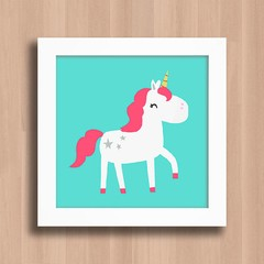 Quadro Cute Pink Unicorn na internet
