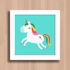 Quadro Cute Colorful Unicorn na internet