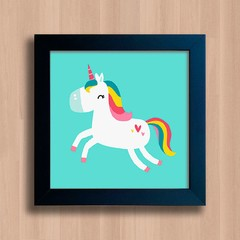 Quadro Cute Colorful Unicorn - comprar online