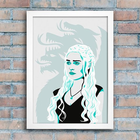 Poster GOT Daenerys & DRAGONS