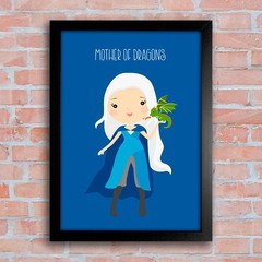Poster GOT - Daenerys - Mother of Dragons - Encadreé Posters