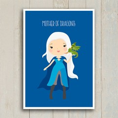 Poster GOT - Daenerys - Mother of Dragons - loja online