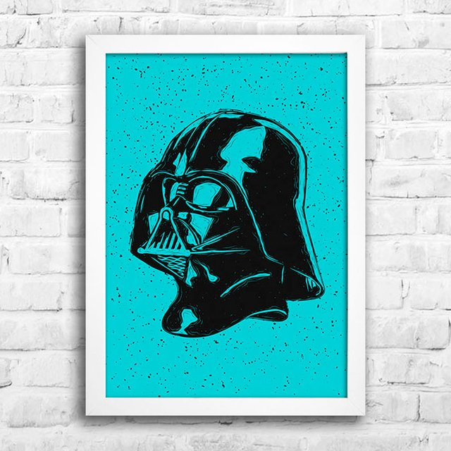 Poster Darth Vader Head na internet