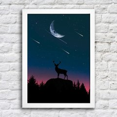 Poster Deer at night - comprar online