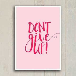 Poster Don't give up - comprar online