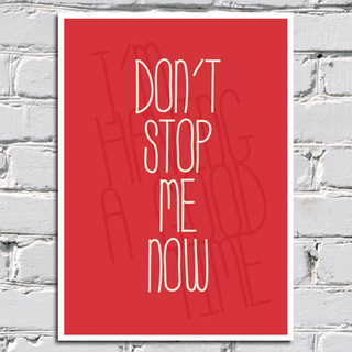 Poster Queen - Don't Stop Me Now - loja online